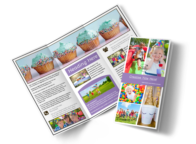 Generic Children Party Brochure Template Preview 1