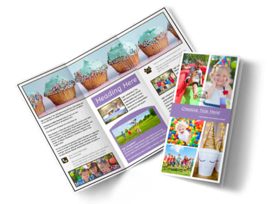 Generic Children Party Tri-Fold Brochure Template