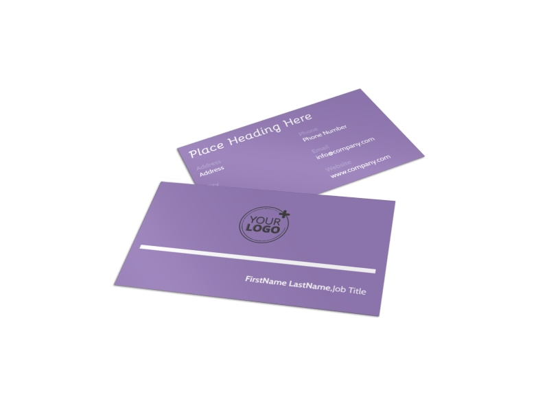 Generic Children Party Business Card Template