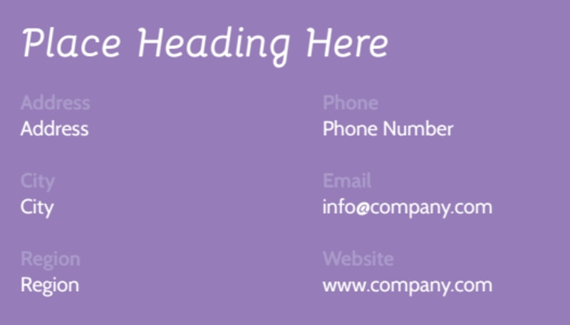 Generic Children Party Business Card Template Preview 3