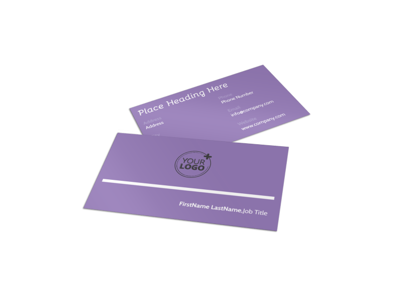 Generic Children Party Business Card Template Preview 1