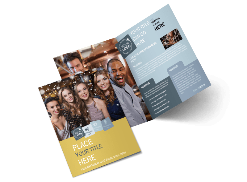 Generic Adult Party Brochure Template Preview 1