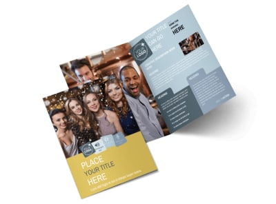 Generic Adult Party Bi-Fold Brochure Template 2