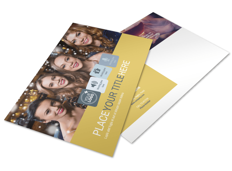 Generic Adult Party Postcard Template Preview 1