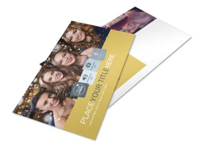 Generic Adult Party Postcard Template preview