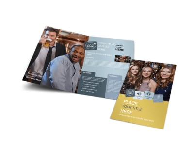 Generic Adult Party Bi-Fold Brochure Template