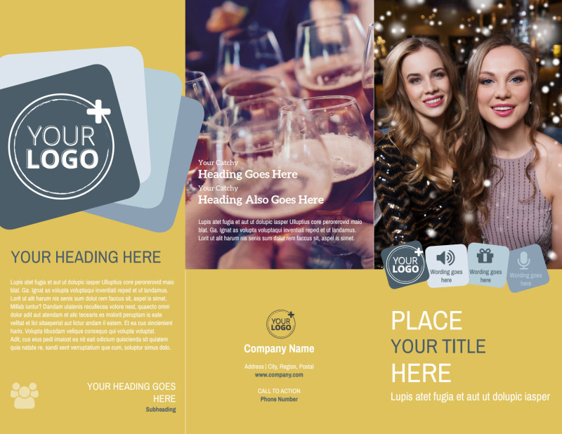 Generic Adult Party Brochure Template Preview 2