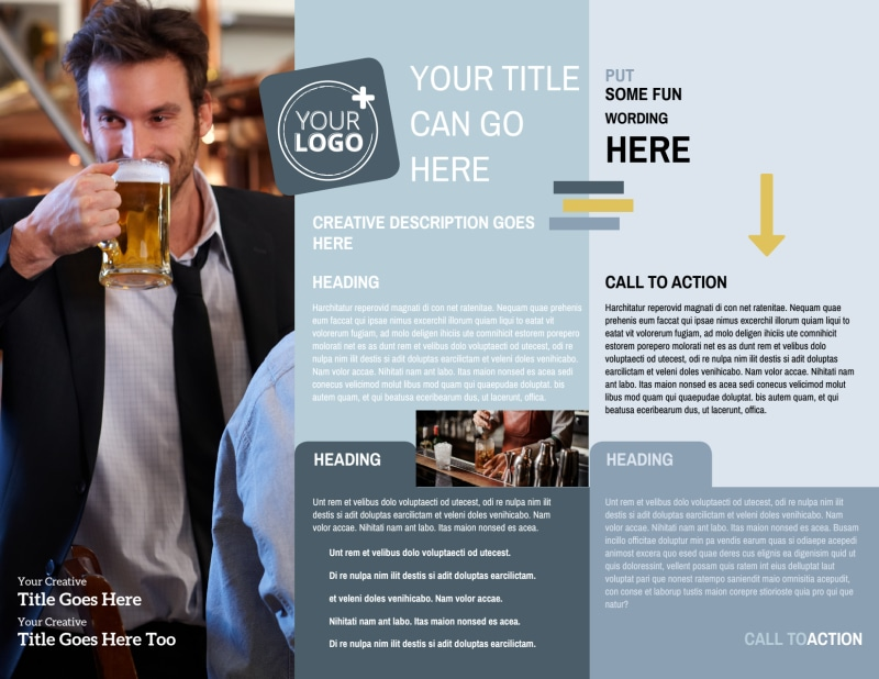 Generic Adult Party Brochure Template Preview 3