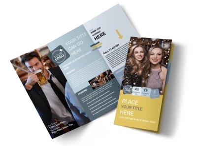 Generic Adult Party Tri-Fold Brochure Template