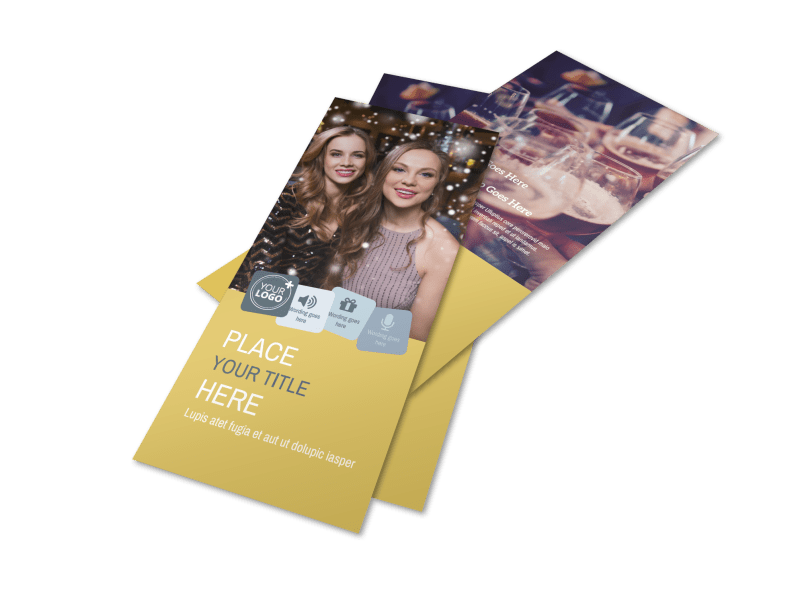 Generic Adult Party Flyer Template Preview 1
