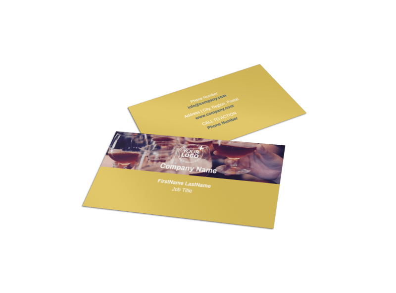 Generic Adult Party Business Card Template Preview 1