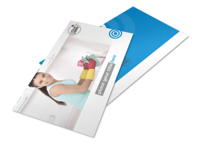 House Cleaning & Housekeeping Services Postcard Template 2