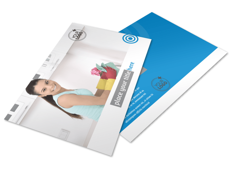 House Cleaning Service Postcard Template Preview 1