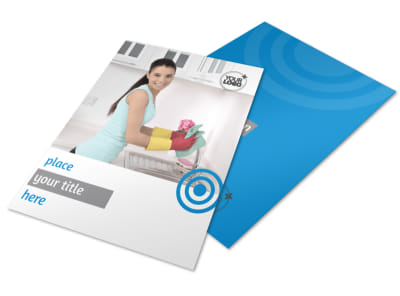 House Cleaning & Housekeeping Services Flyer Template preview