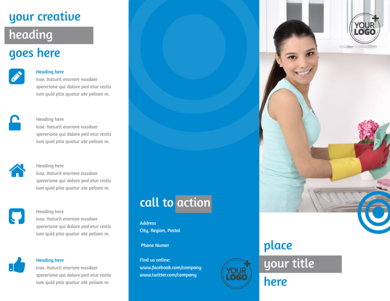 House Cleaning Service Brochure Template Preview 2