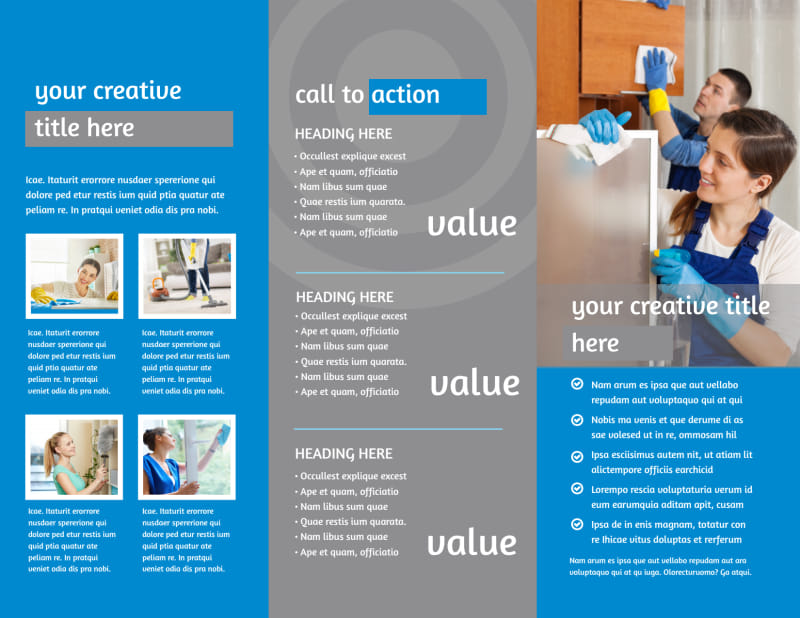 House Cleaning Service Brochure Template Preview 3