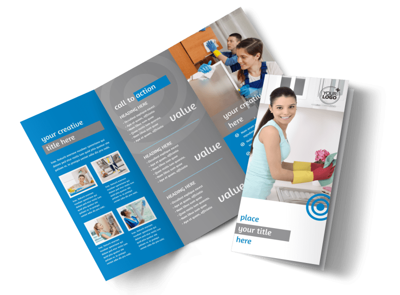 House Cleaning Service Brochure Template Preview 1