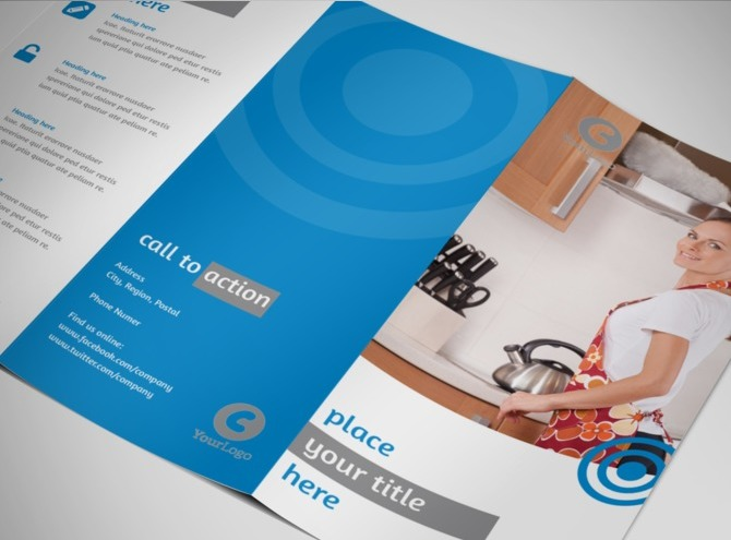 House cleaning housekeeping services brochure templates for Cleaning service brochure templates