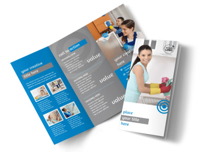 House Cleaning & Housekeeping Services Brochure Template