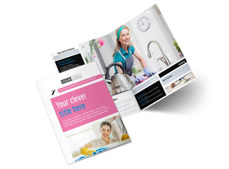 General Cleaning Bi-Fold Brochure Template 2