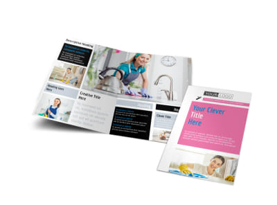 General Cleaning Bi-Fold Brochure Template