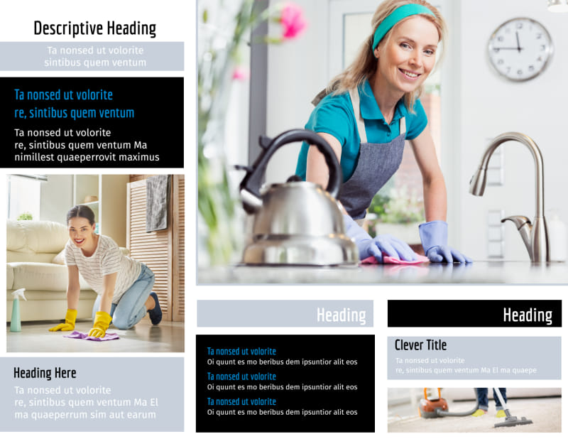 General Cleaning Brochure Template Preview 3