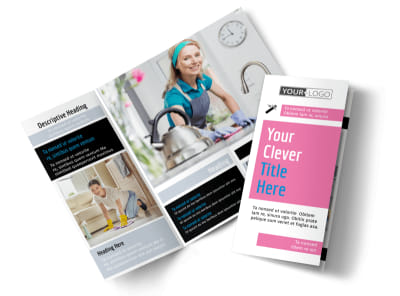 General Cleaning Tri-Fold Brochure Template