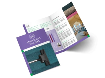 Carpet Cleaners Bi-Fold Brochure Template 2