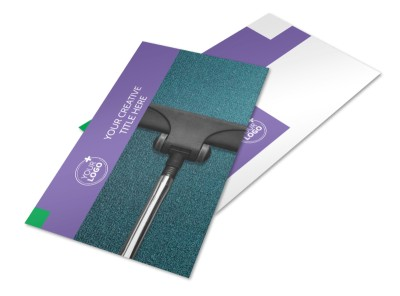 Carpet Cleaners Postcard Template preview