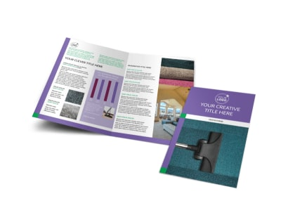 Carpet Cleaners Bi-Fold Brochure Template