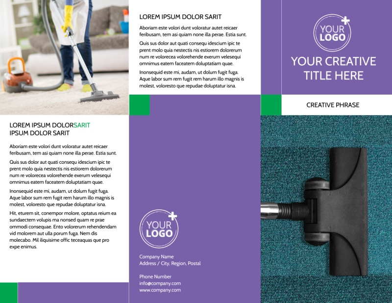 Carpet Cleaning Brochure Template Preview 2