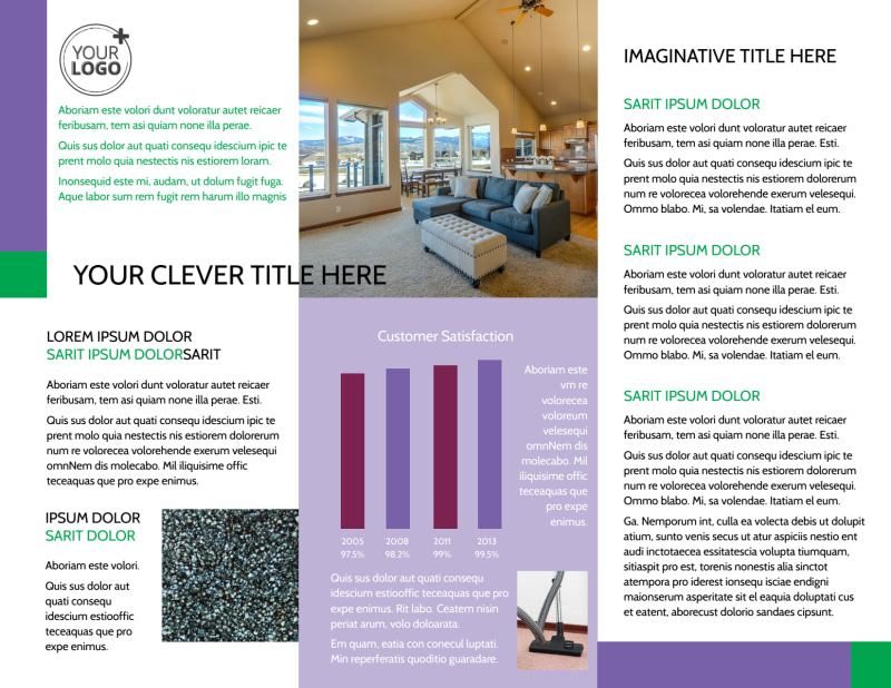Carpet Cleaning Brochure Template Preview 3