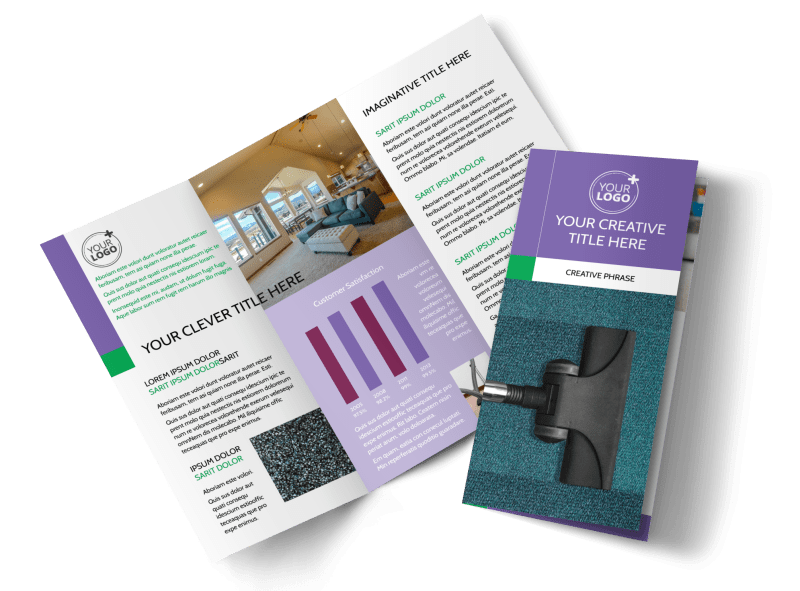 Carpet Cleaning Brochure Template Preview 1