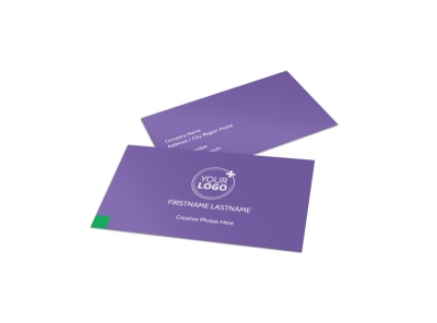Carpet Cleaners Business Card Template preview