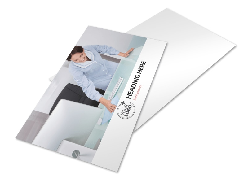 Office Cleaning Postcard Template 2