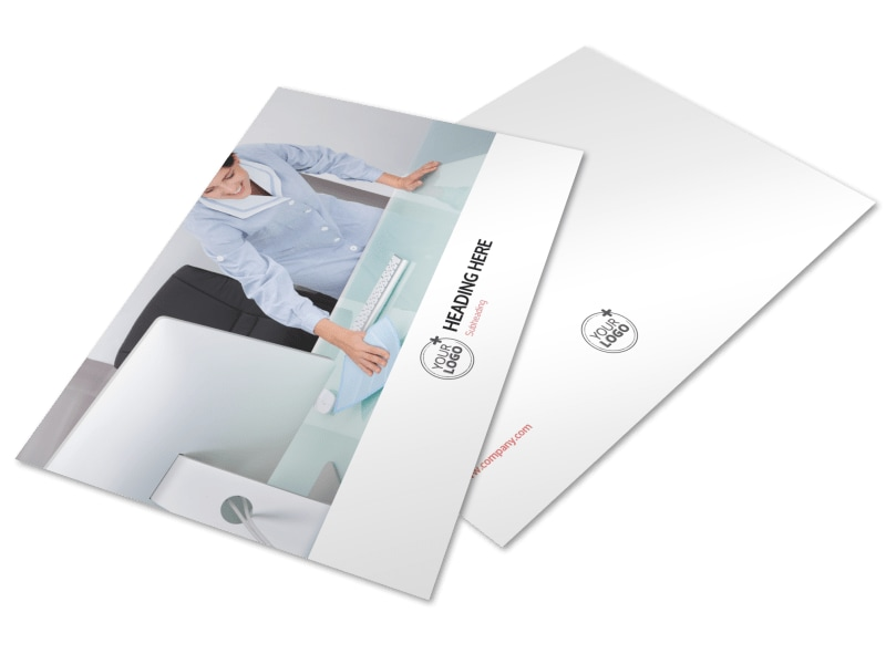 Office Cleaning Postcard Template