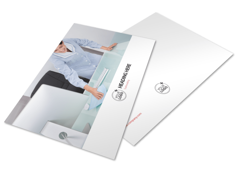 Office Cleaning Postcard Template Preview 1