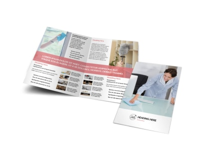 Office Cleaning Bi-Fold Brochure Template
