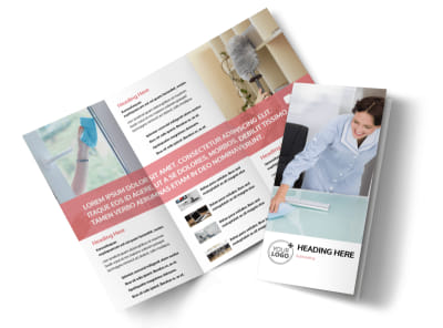 Office Cleaning Tri-Fold Brochure Template