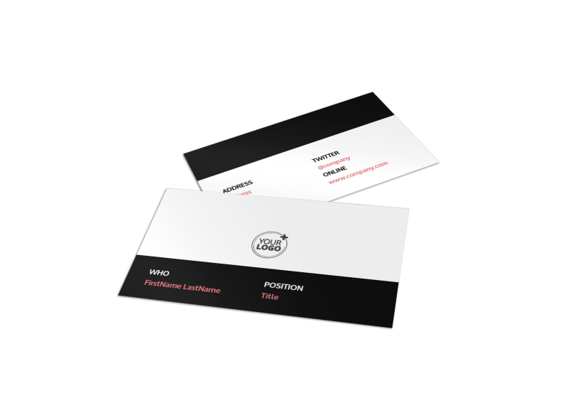 Office Cleaning Business Card Template Preview 1