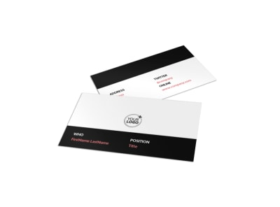 Office Cleaning Business Card Template preview