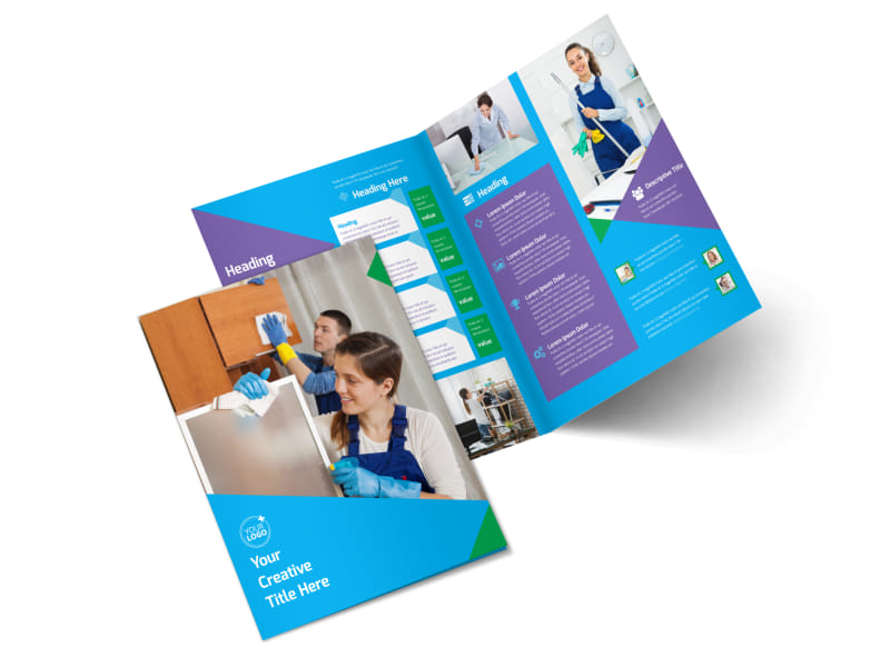 Commercial Cleaning Bi-Fold Brochure Template 2