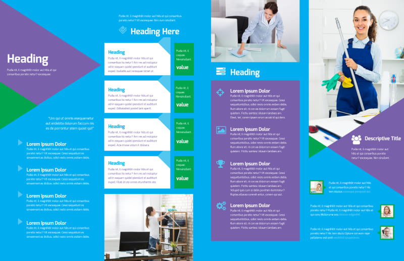 Commercial Cleaning Brochure Template Preview 3