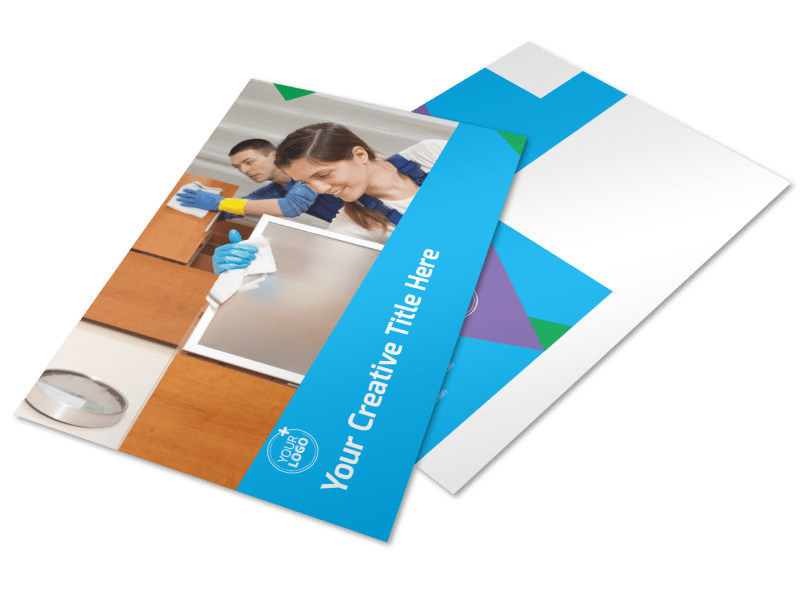 Commercial Cleaning Postcard Template