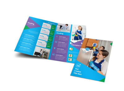 Commercial Cleaning Bi-Fold Brochure Template