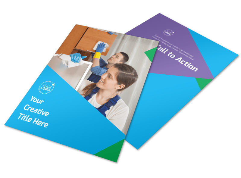 Commercial Cleaning Flyer Template Preview 1
