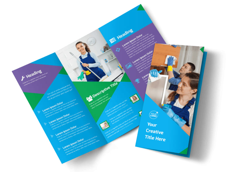Commercial Cleaning Tri-Fold Brochure Template