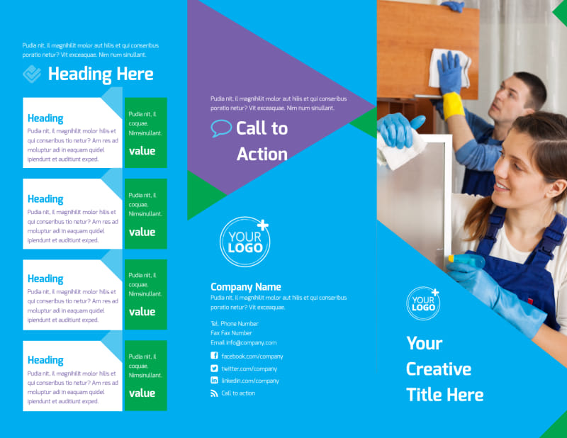 Commercial Cleaning Brochure Template Preview 2