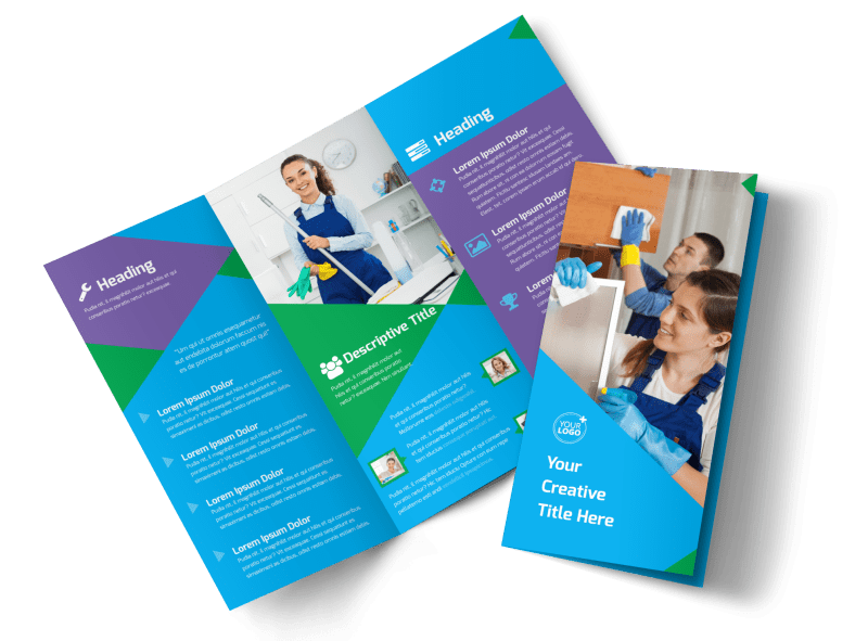 Commercial Cleaning Brochure Template Preview 1