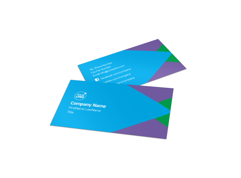 Commercial Cleaning Business Card Template Preview 1